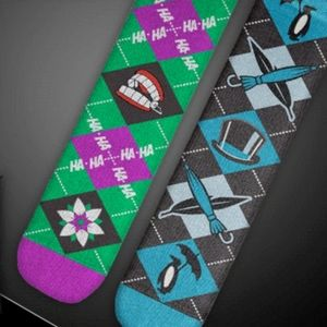 Batman - Joker & Penguin Mismatched Socks